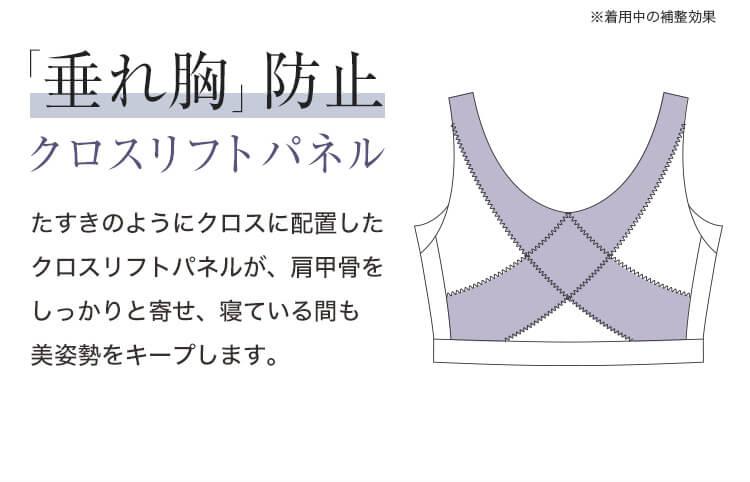 「垂れ胸」防止 クロスリフトパネル