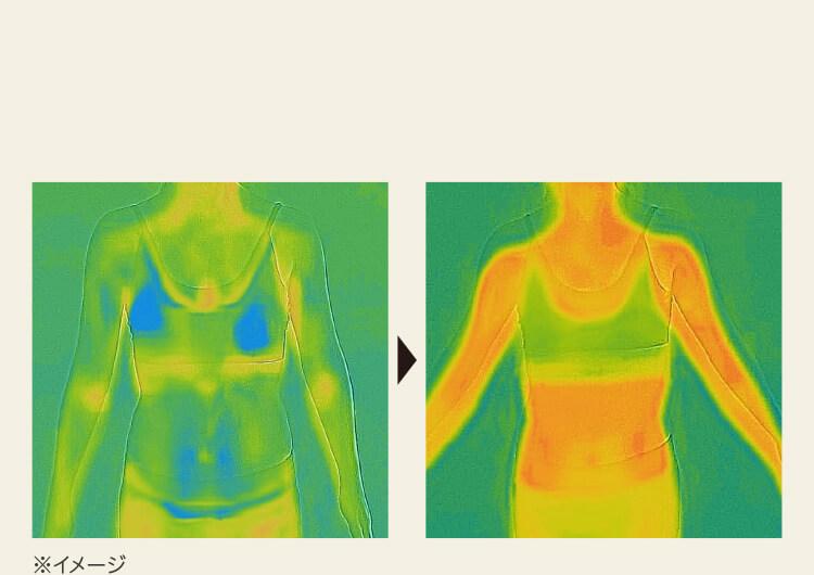 ※サーモグラフィカメラによる表面温度の比較